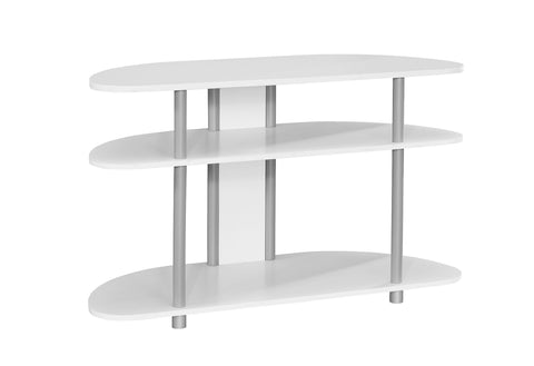 "Monarch I 2522 Tv Stand - 38""L / White With Silver Accent"