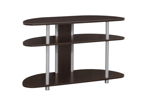 "Monarch I 2523 Tv Stand - 38""L / Cappuccino With Silver Accent"