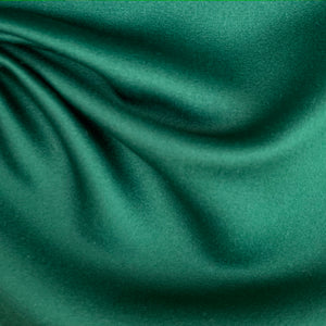 Portia A-Line Dress - Emerald Duchess Satin