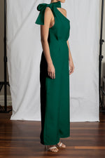 Portia Jumpsuit - Emerald Duchess Satin