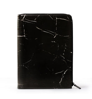 Marble L-Zipper Meeting Folder A4