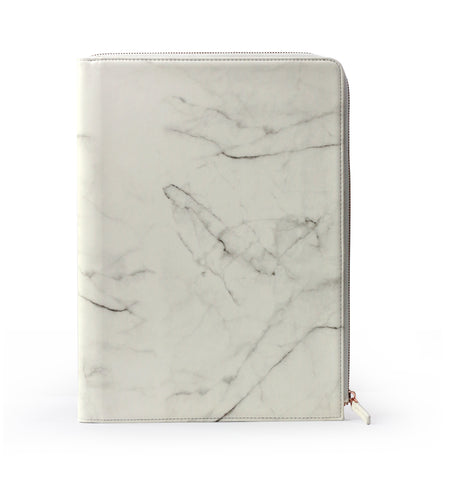 Marble L-Zipper Meeting Folder A4 (ขาว)