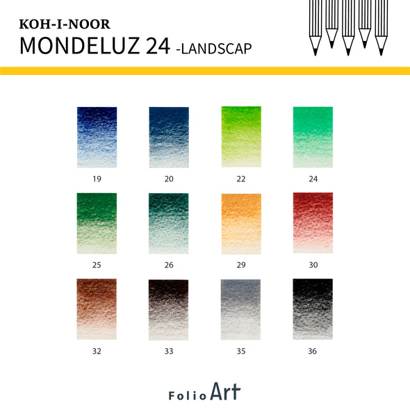 KOH-I-NOOR Mondeluz : Color Pencil 24 (Landscape)