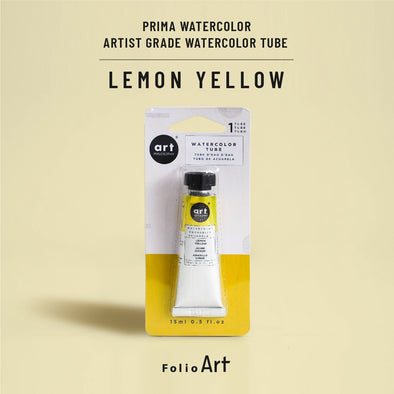 Prima : Artist grade watercolor tubes : Lemon yellow