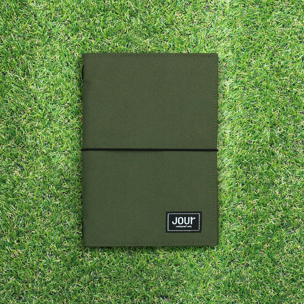 Jour Waterproof size A5  : สมุดกันน้ำ Jour (Military Green)