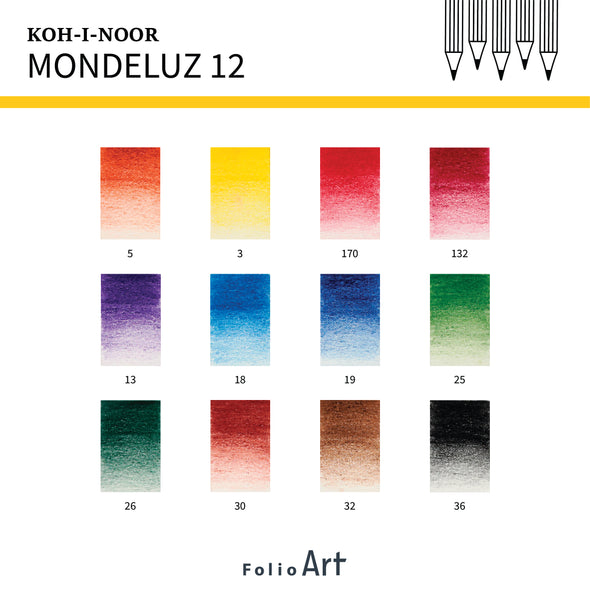 KOH-I-NOOR Mondeluz : Color Pencil 12