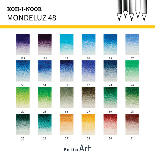 KOH-I-NOOR Mondeluz : Color Pencil 48