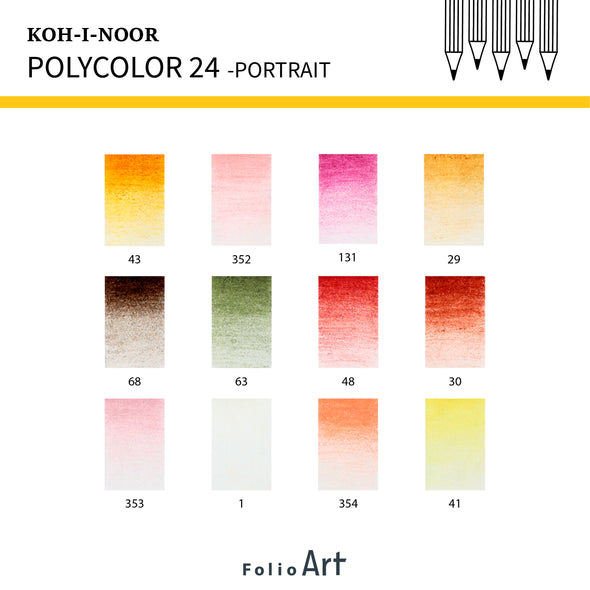 KOH-I-NOOR Polycolor : Color Pencil 24 (Portrait)