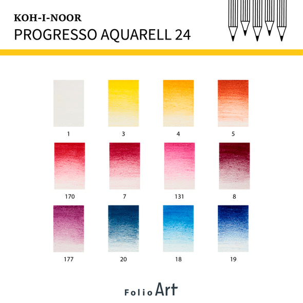 KOH-I-NOOR Progresso Aquarell : Color Pencil 24