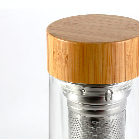 BAMBOO TUMBLER AND GLASSES SET