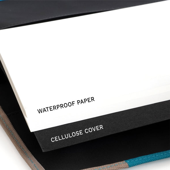Jour Waterproof Note Size A5 : สมุดกันน้ำ Two-Tone (Lake)
