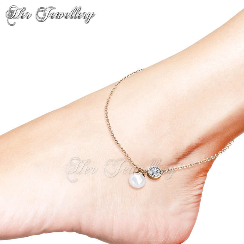 faux amazon bracelet with ankle gold pearls pretty real anklet dp infinity