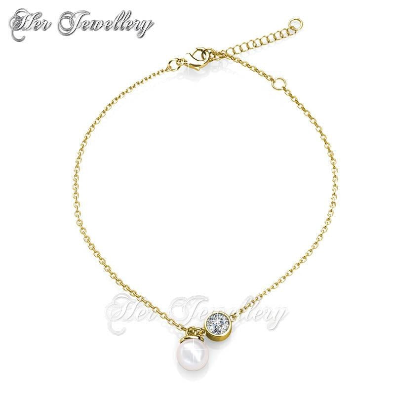 int heart gold yellow crown js anklet products