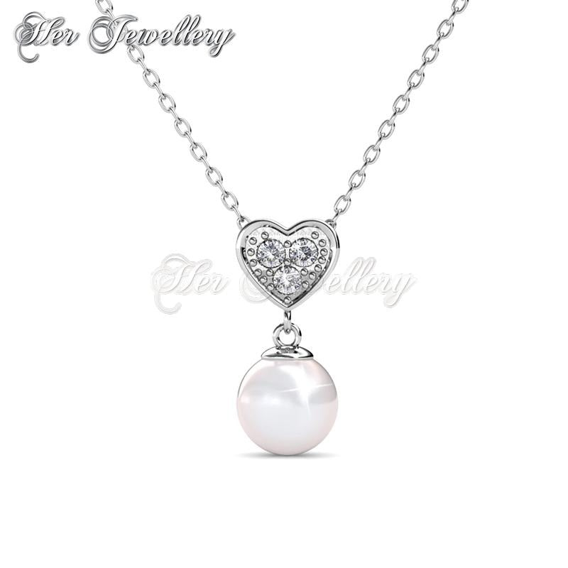 Pearl heart pendant her jewellery pearl heart pendant aloadofball Image collections