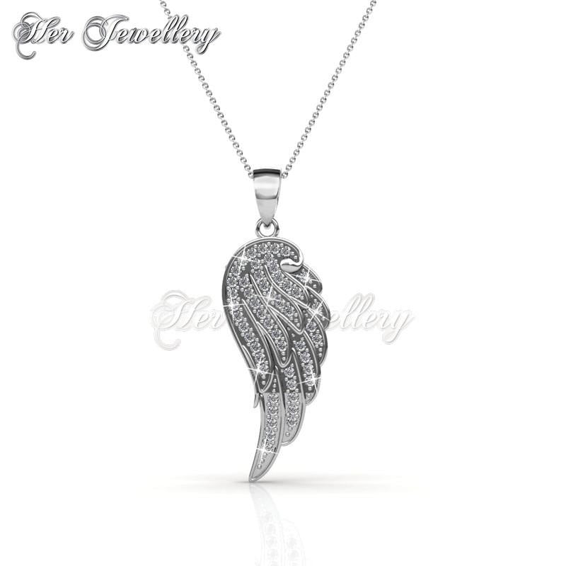 pendant market necklace silver il feather etsy gold wing rose angel