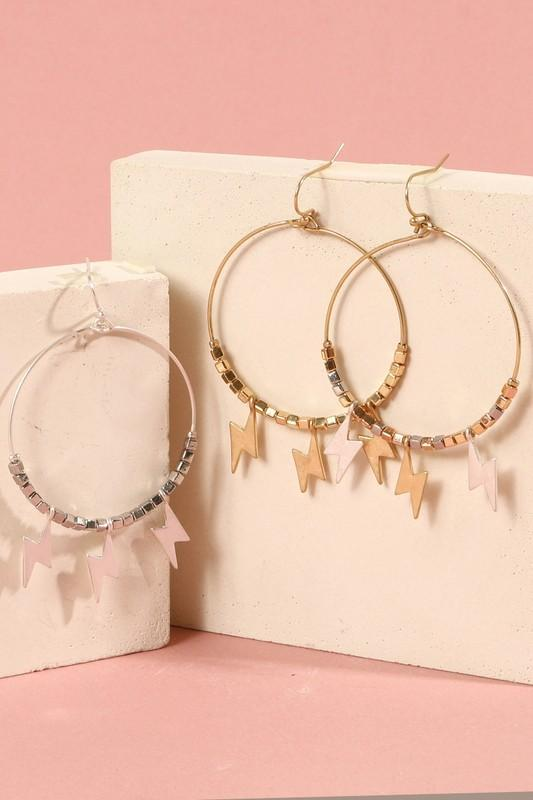 Thunder Bolt Hoop Earrings
