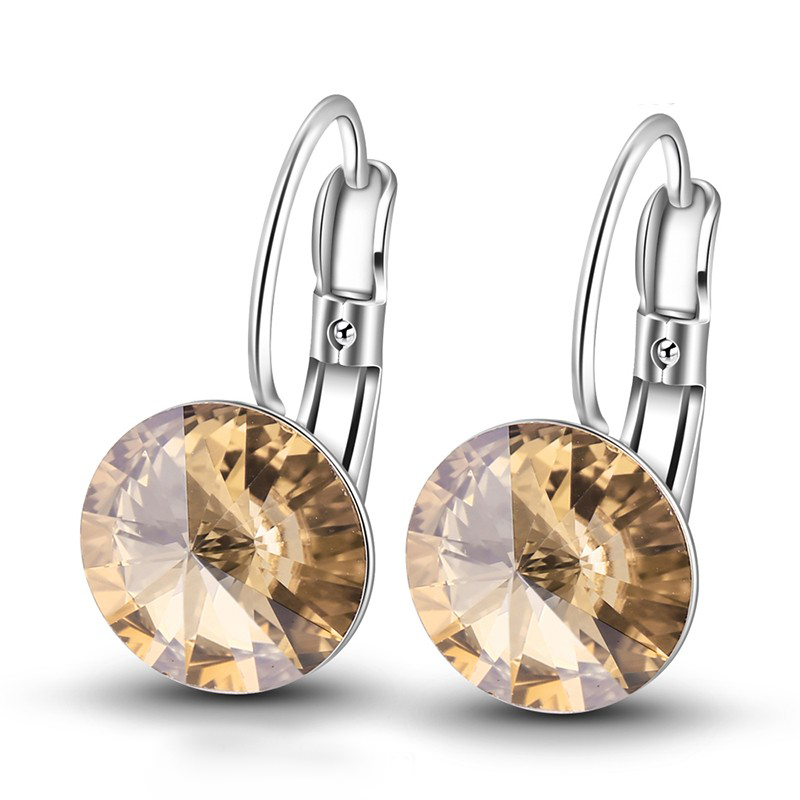 swarovski circle earring
