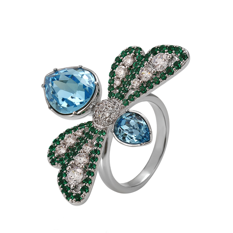 butterfly swarovski elements ring