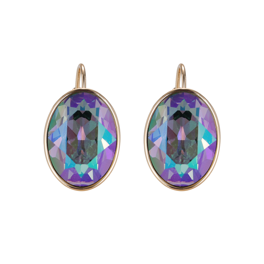 oval swarovski earrings