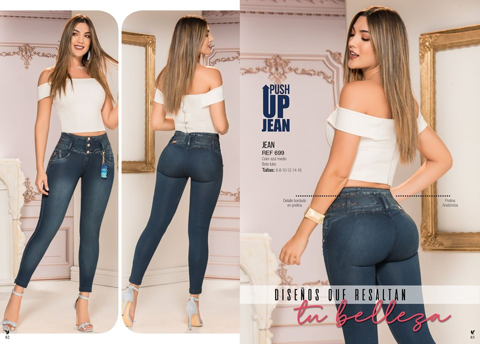 Blue  buttsupport jeans