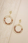Neptune's Moon Blush  Hoop on 18k Gold