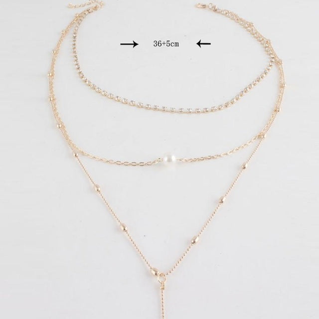 Long Neckline  choker necklace