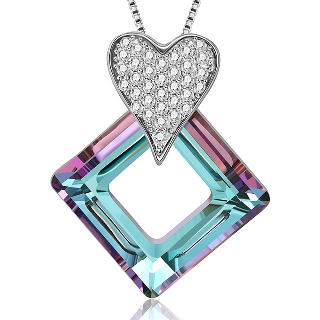 Square swarovski necklace
