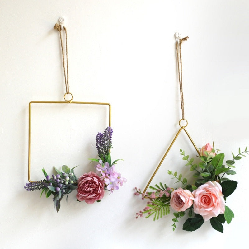 Golden Geometric Hanging Decorations