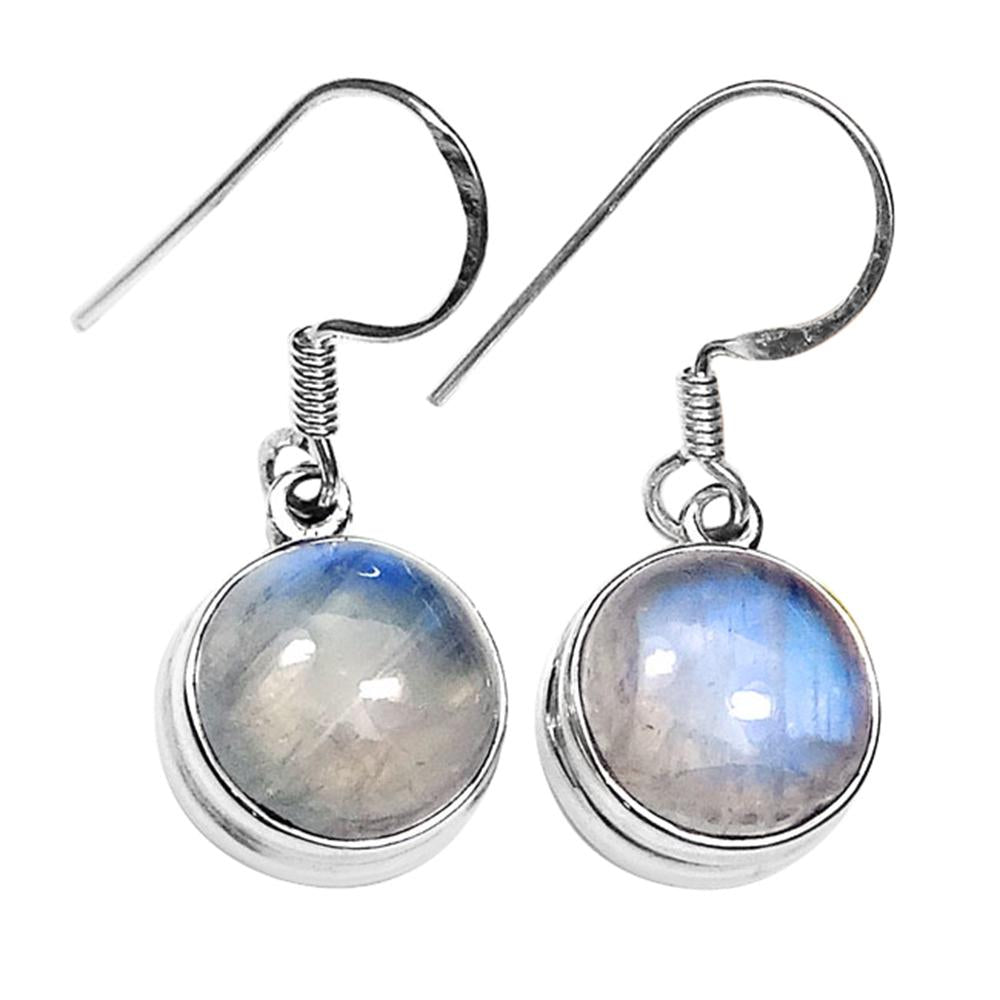 Aarohi Rainbow Moonstone Ball Drop Earrings