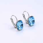 Square pierced swarovski earrings