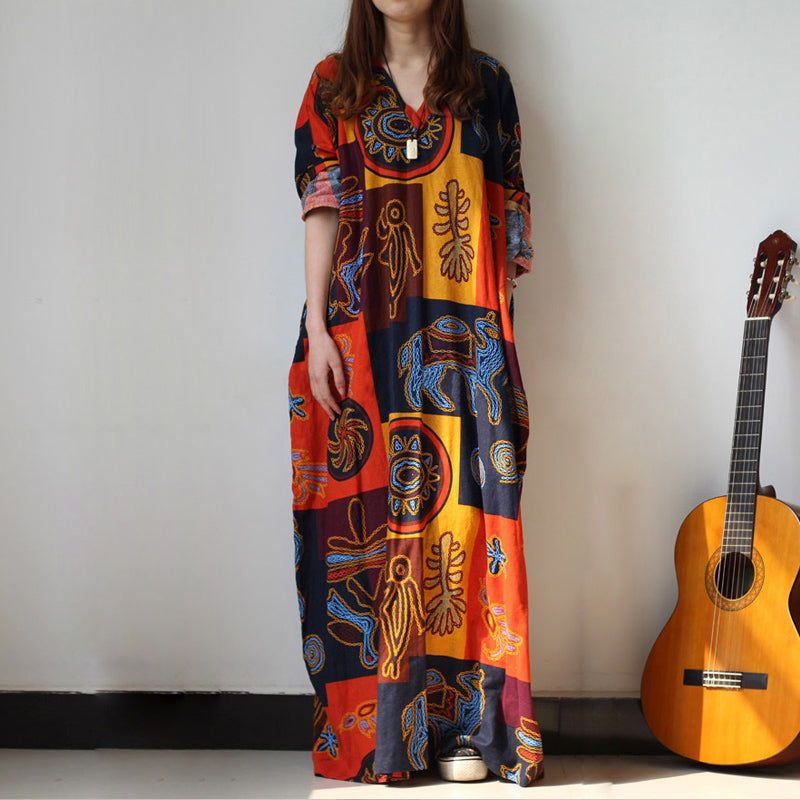 Long Sleeved African kaftan