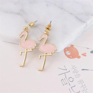 Cute Pink Ostrich Earrings