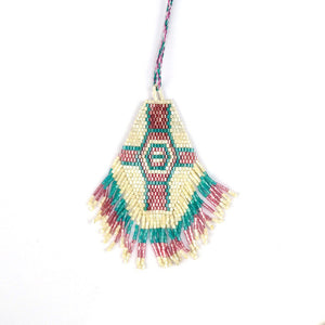 Hexag Ethnic Necklace with Seed Beads