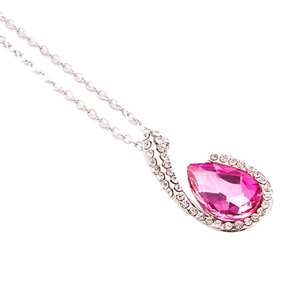 Crystal Pendant Necklace, choose your color...