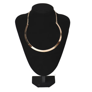 Chain Statement Necklace Gold