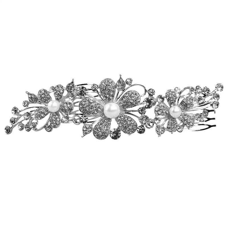 wedding Crystal and Pearl Hair Comb