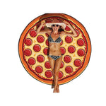 pizza beach mat