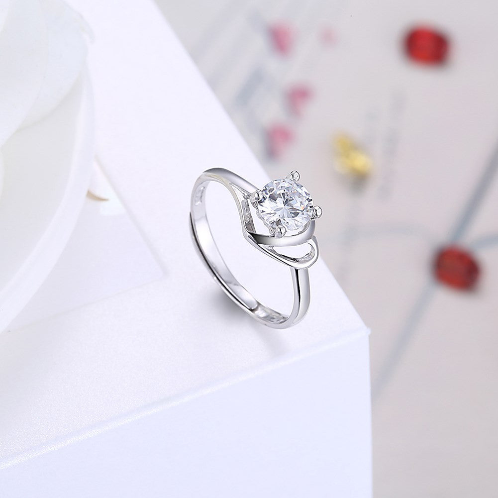 925 Sterling Silver adjustable Fashion Ring