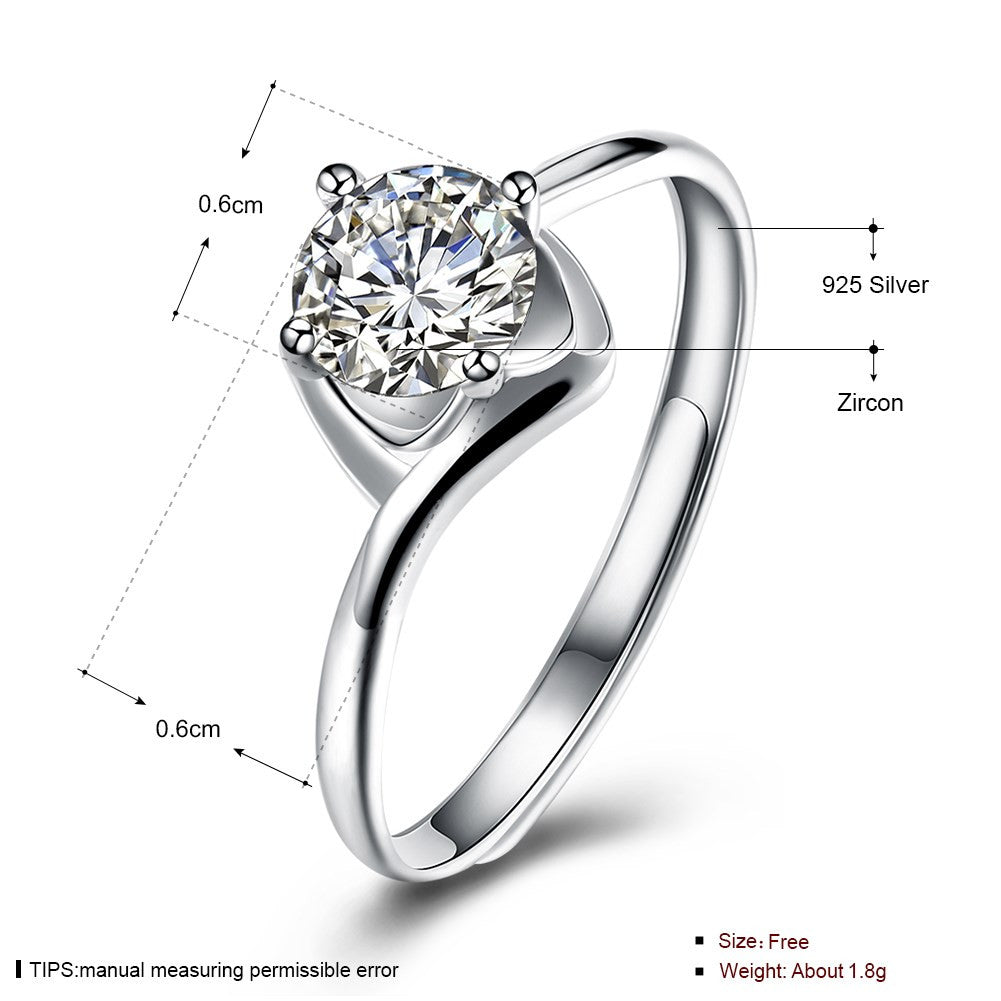 925 Sterling Silver Ring Fashion ring fashion trend pure silver jewelry