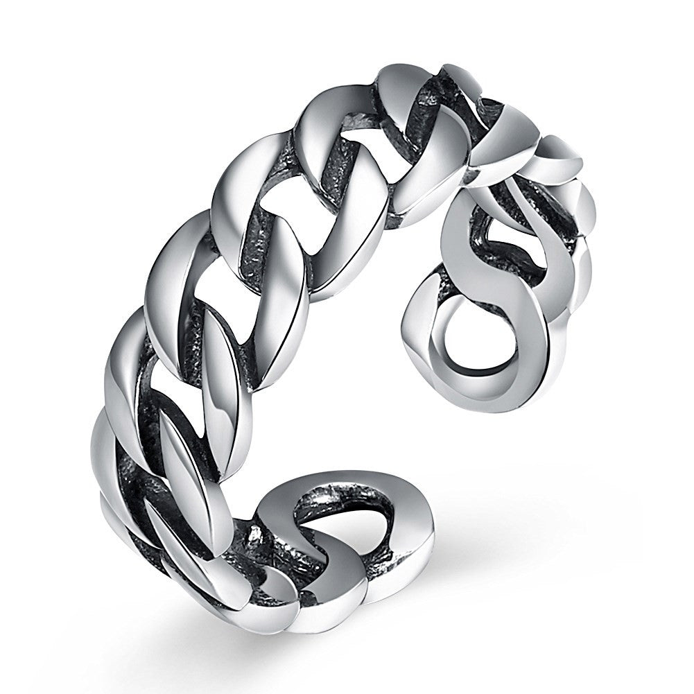925 Sterling Silver chain ring