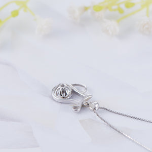 silver jar necklace