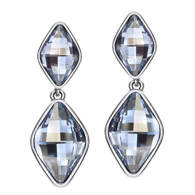 Neoglory Jewelry MADE WITH SWAROVSKI ELEMENTS Crystal Drop Earrings for Women 2018 Brand Gifts Fashion