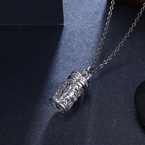 Cylinder Necklace in sterling Silver