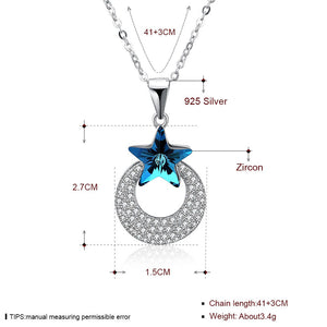 S925 Silver star Necklace with swarovski elements®