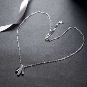 small teardrop silver necklace