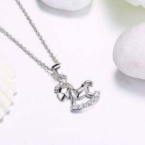 S925 Silver Necklace Fashion Trend Pony Necklace