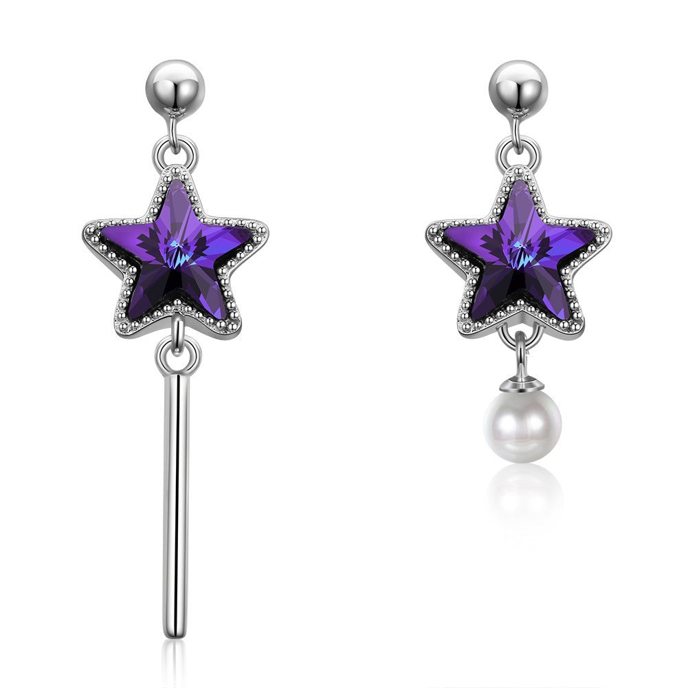 Long star earrings with swarovski elements®