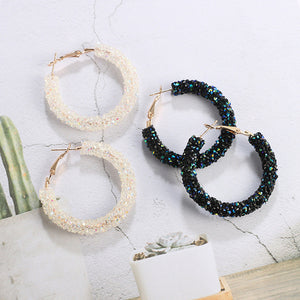 Bead hoop earrings