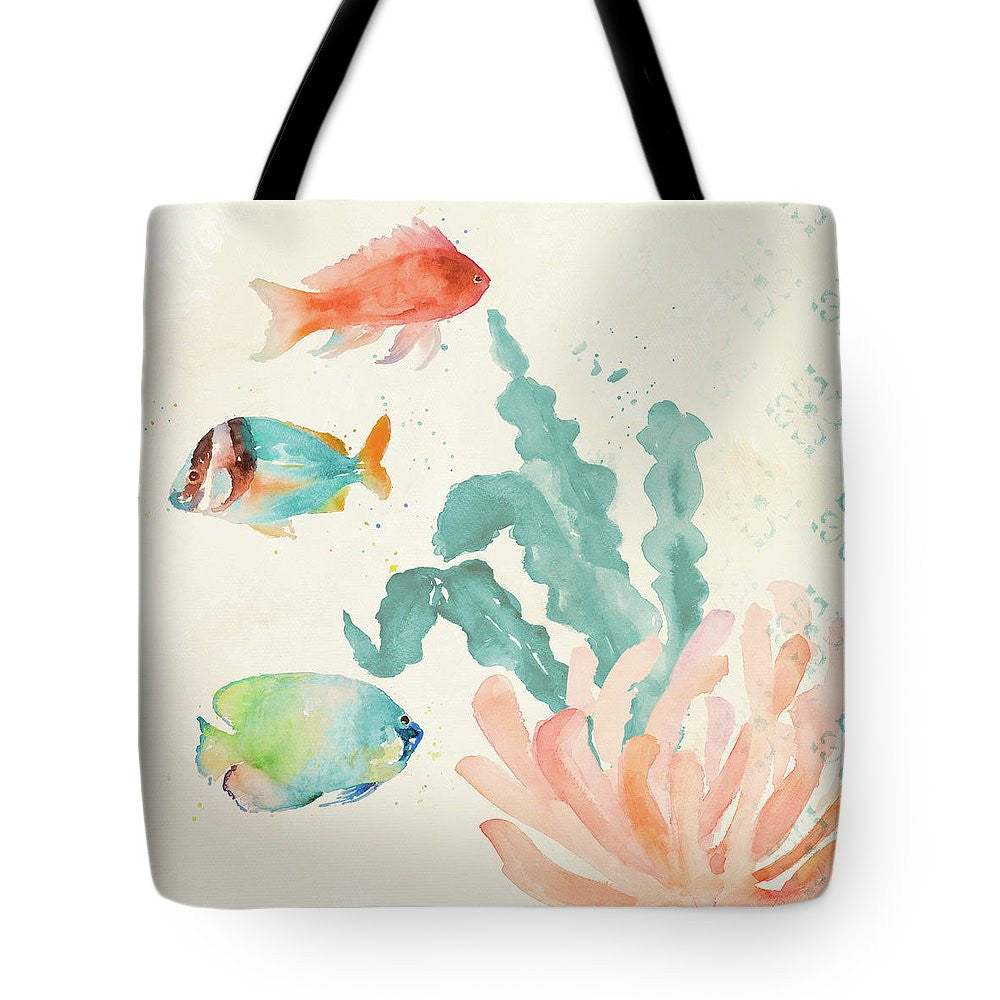 Tropical Teal Coral Medley I Tote Bag