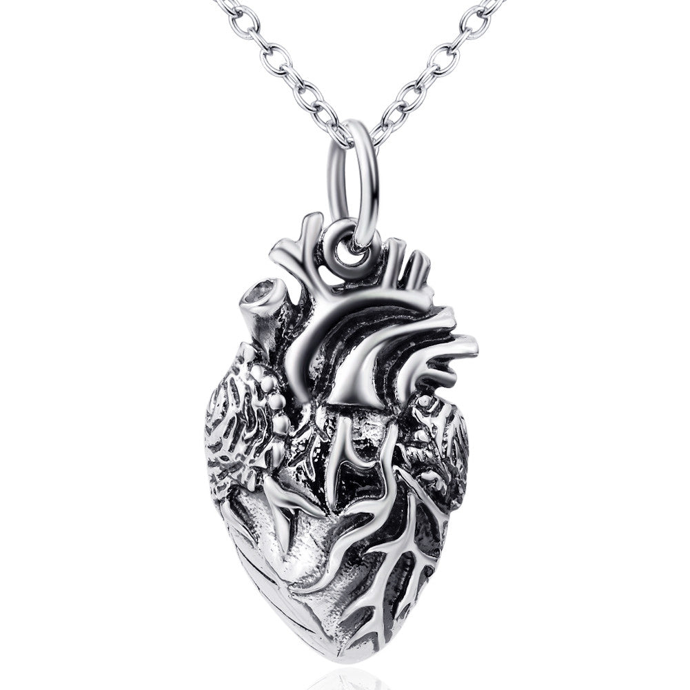 heart necklace in 925 sterling silver